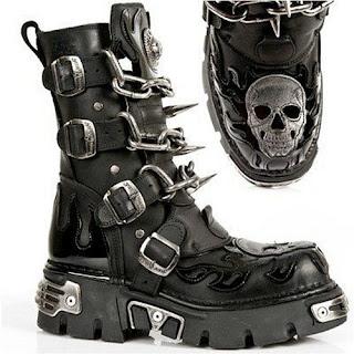 Gothic Punk Rock Biker Boots for Men