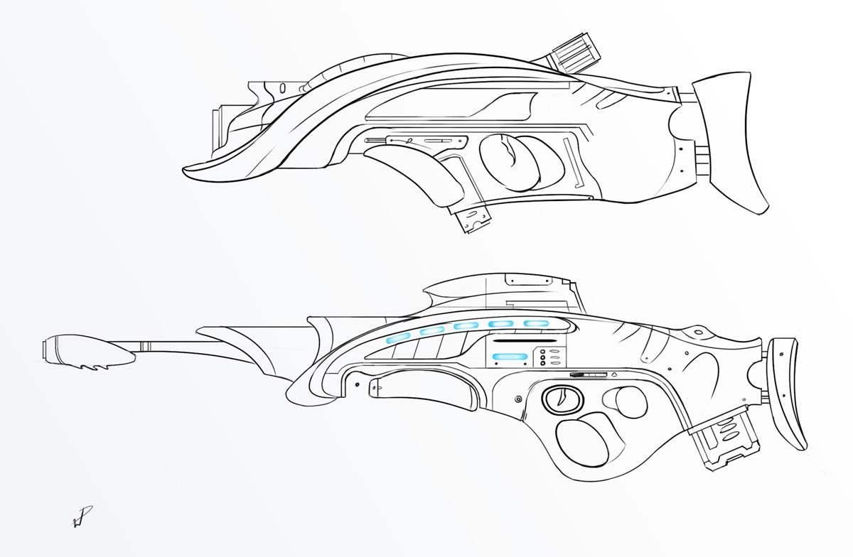 Will Pitzer S Blog Sci Fi Gun Concepts