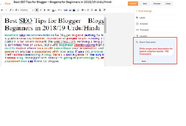 Best SEO Tips for Blogger – Blogging for Beginners in 2018/19 Urdu/Hindi