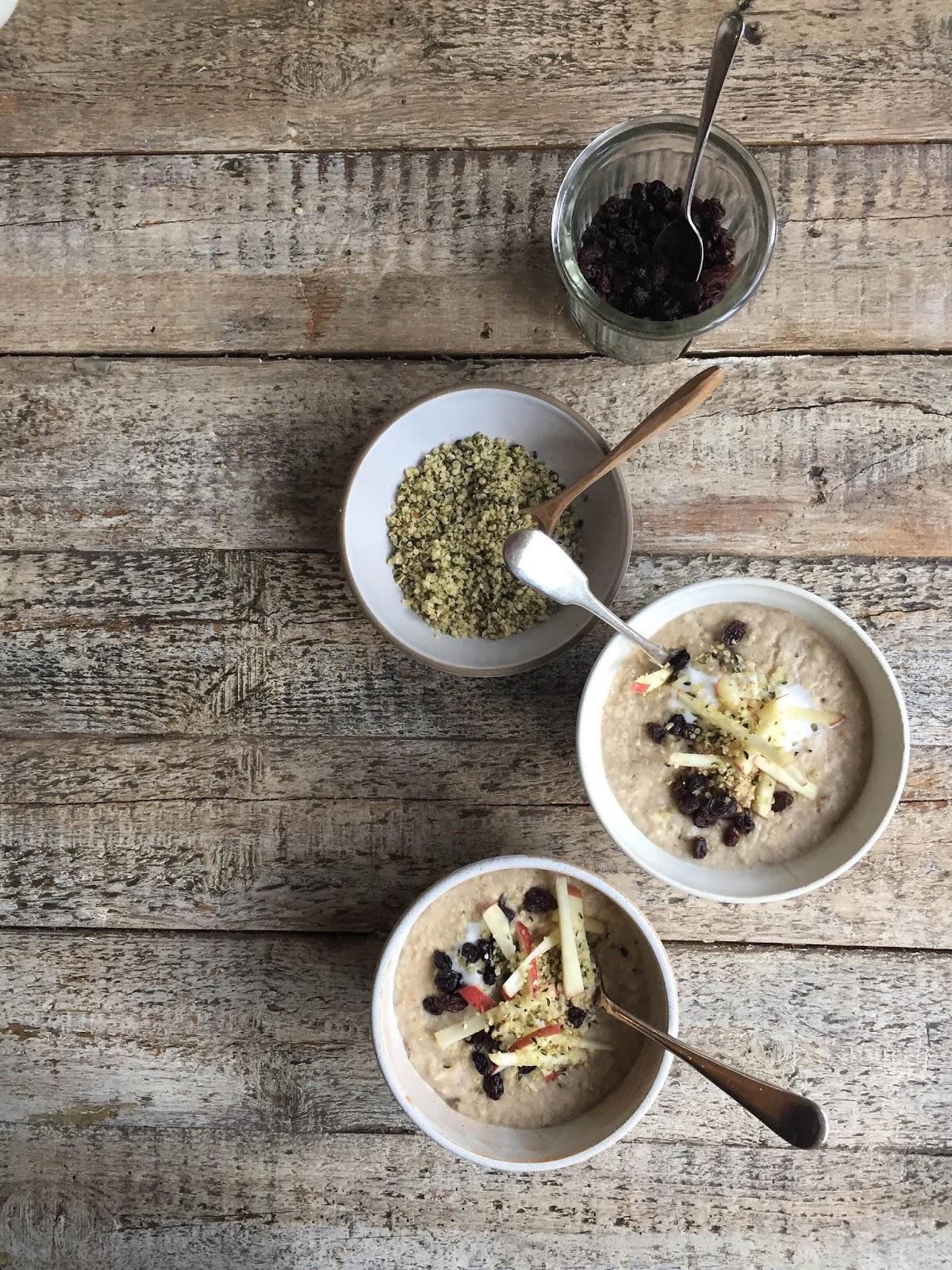 Cinnamon Spiced Morning Porridge Bowl