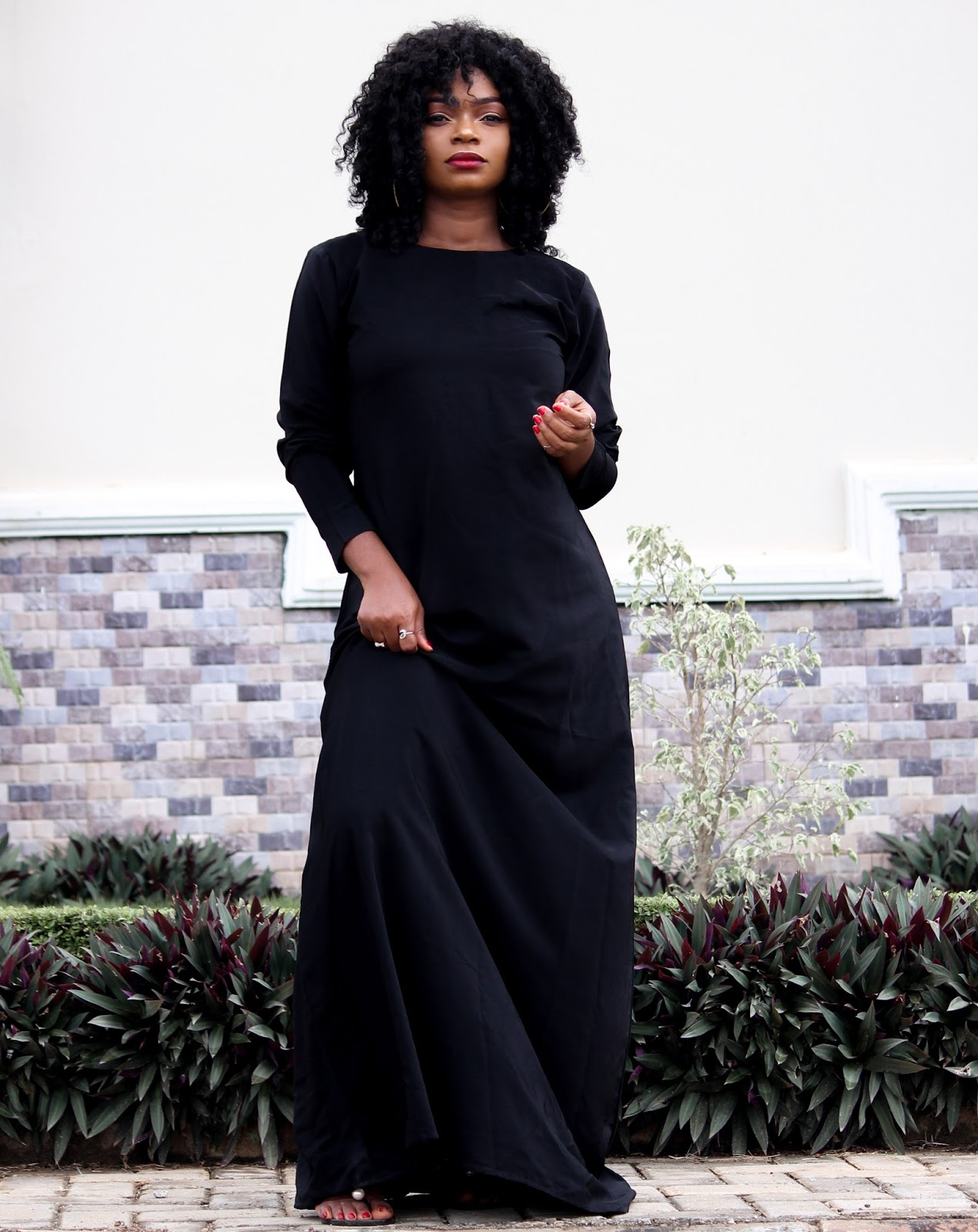 BLACK KAFTAN - Black Kaftan Dress from Porshher