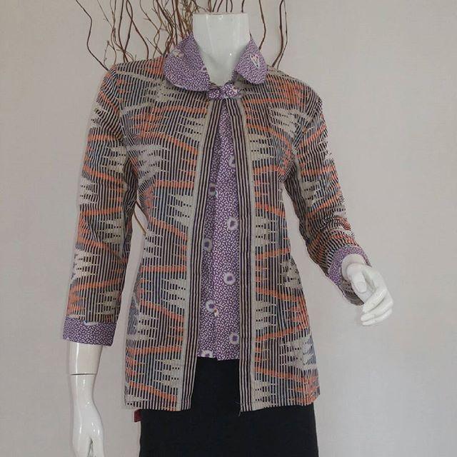 Model Baju Batik Lengan Panjang Modern: Model Baju Batik Kantor Wanita Terbaru Dan Modern