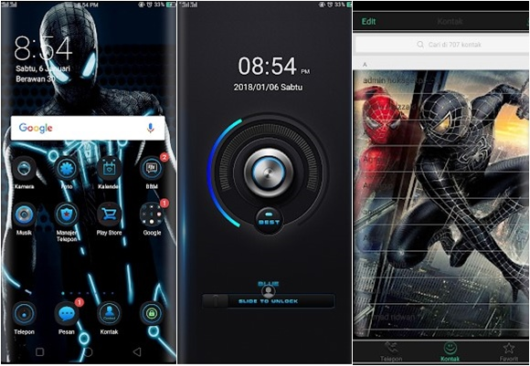 Tema Oppo F5 - Spiderman