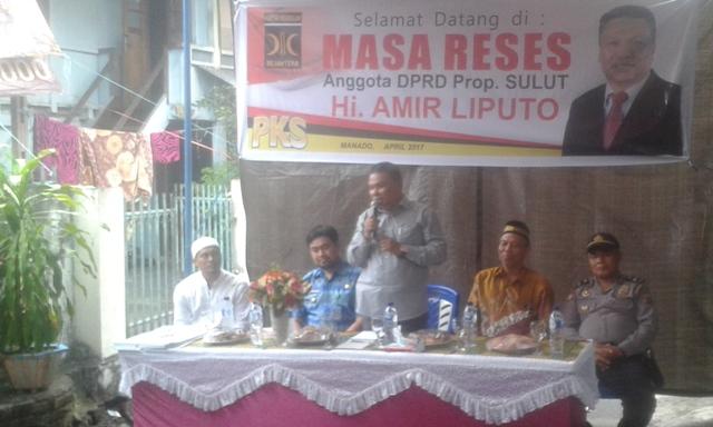 Kegiatan reses Wakil Komisi III DPRD Sulut, Amir Liputo.
