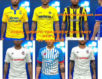 Option File PES 2016 untuk PTE 6.0 Final