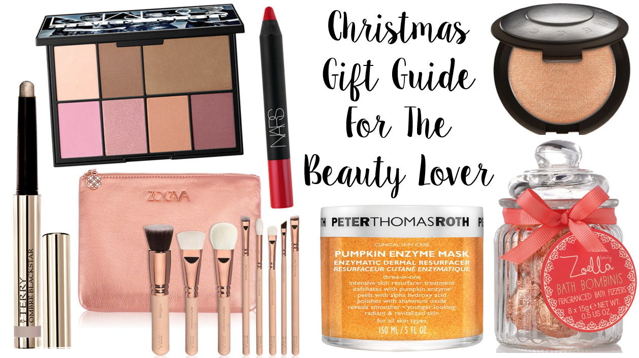 Christmas Gift Guide Beauty NARS Zoeva Peter Thomas Roth By Terry Zoella Becca