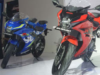 Adu desain Honda All New CBR 150R, Yamaha New R15 dan Suzuki GSX R 150