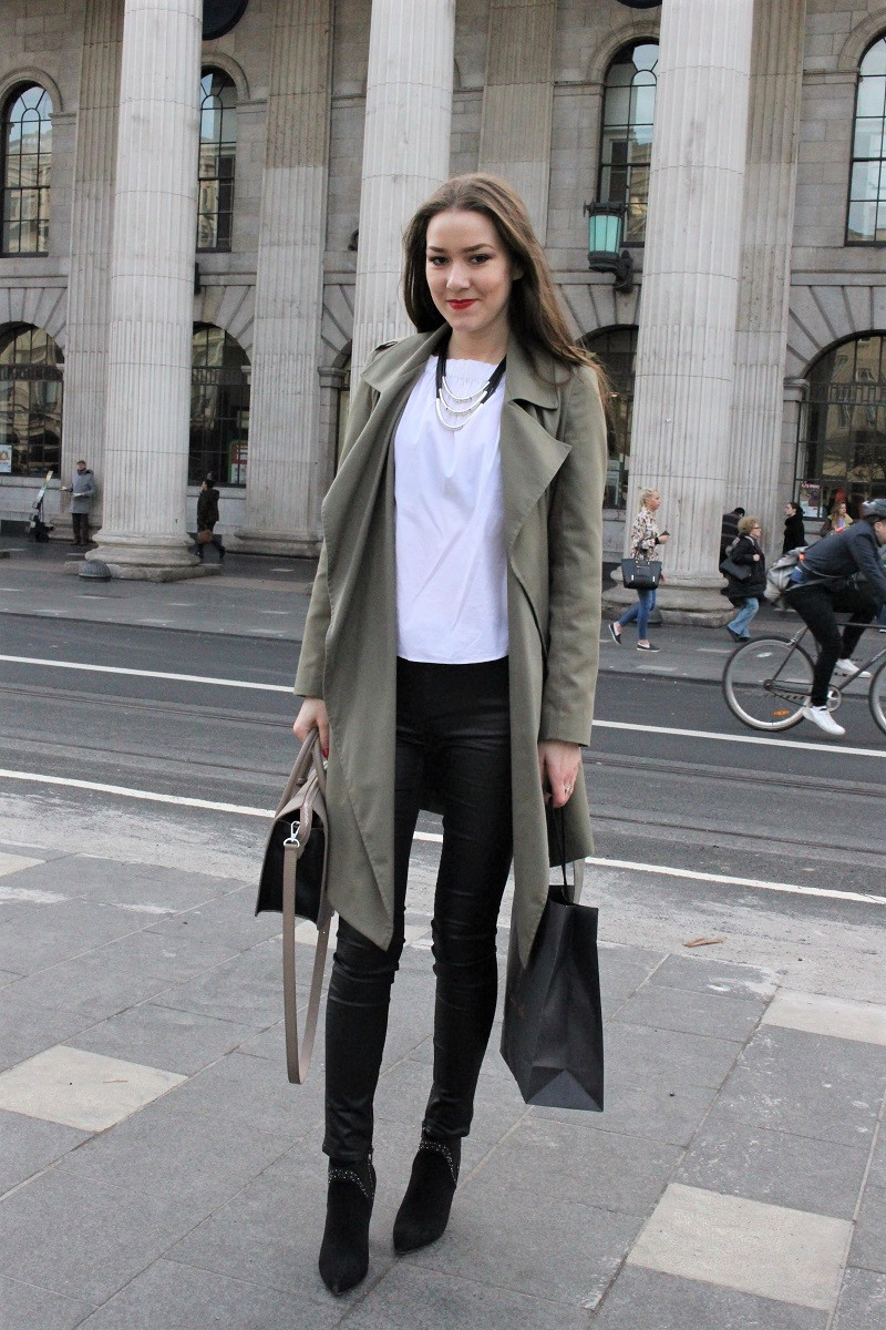 OOTD 34 :: Spring Outfit : Leather Pants and Off-the ...