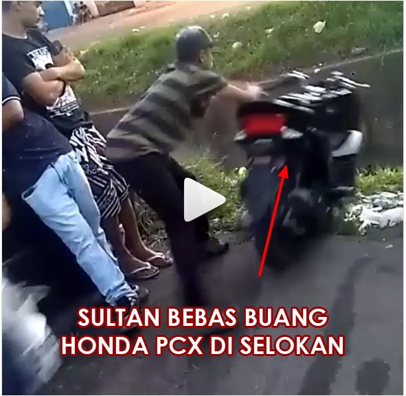 Honda PCX 150 Dibuang Keselokan, Padahal Masih Baru Kinyis Kinyis Belum ada Plat Nomor