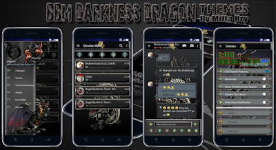 BBM Darkness Dragon Themes v3.2.0.6 Apk Terbaru