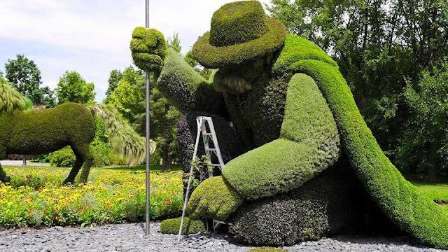 Sculpturi din plante.
