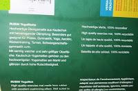 Info: Yogamatte aus natürlichen Gummi (Kautschuk) - »Rubin« 183x61x0,4cm - sehr rutschfeste Matte für Yoga : ideal für Yogalehrer & Yogastudios (Studio-Qualität). Erhältich in 6 Trendfarben : pink hellblau grün lila navyblau & schwarz. Exzellent geeignet für Yogaübungen (Asanas), Pilates & Gymnastik - die perfekte Fitnessmatte / Sportmatte dank innovativer Oberflächenstruktur - ökologisch korrekt hergestellt & REACH geprüft (keine Schadstoffe)