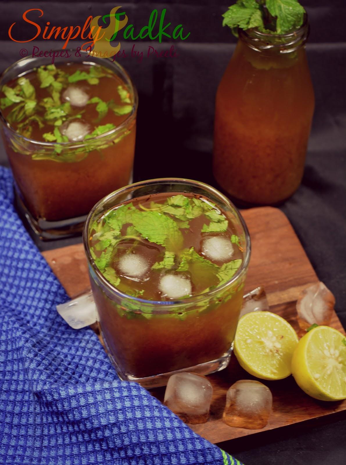 Imli Ka Amlana Imli Ka Paani Indian Tamarind Drink Recipes Simply Tadka