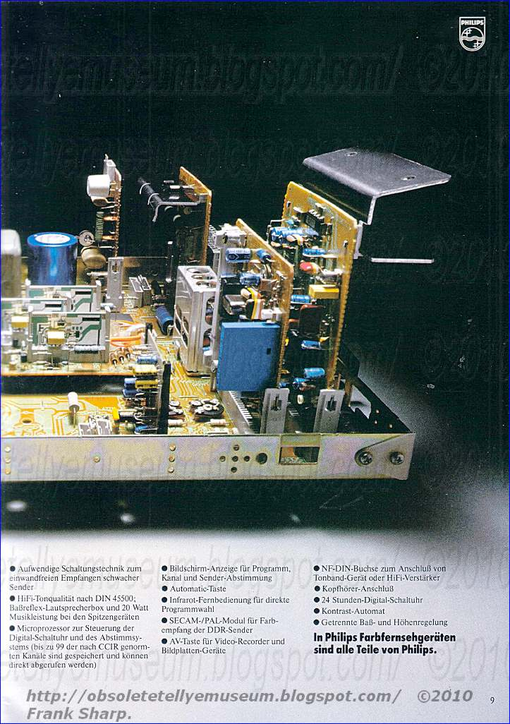 Obsolete Technology Tellye    Philips 26c970  00r Rembrandt Chassis K12i Internal View