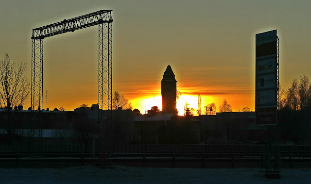 Lens and Cover | Haparanda Old Water Tower and Sunset