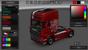 Czech Metallic Skin for Scania R