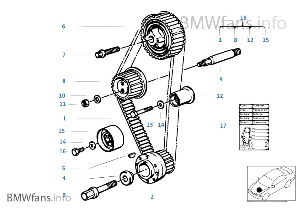 BMW PROBLEM SOLVING: CARA MENGGANTI TIMING BELT BMW M40