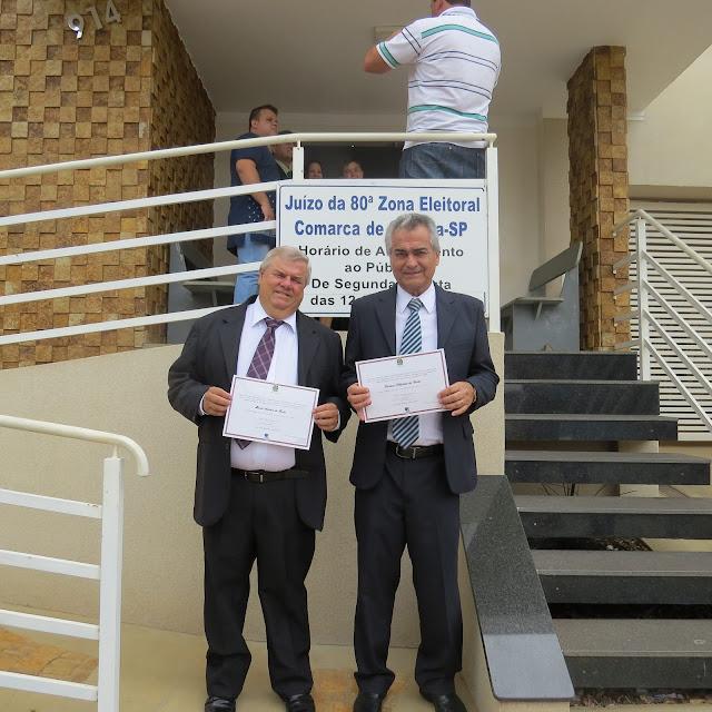 Gustavo e vereadores eleitos recebem diplomação em Olímpia