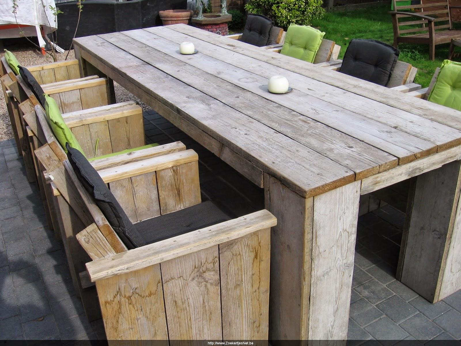 Tafel Steigerhout Tekening : Houten tuintafel maken tekening houten tafelblad maken best