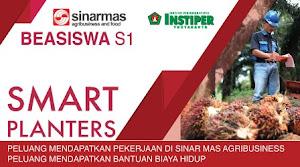 Beasiswa S1 INSTIPER Yogyakarta dari SMART Planters