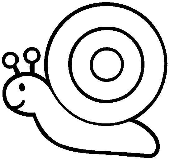 Desenho De Caracol Para Fazer Colagem Com Barbante Espaco Educar
