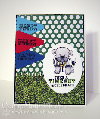 Bulldog Referee Birthday Card by Crafty Math Chick | Touchdown Tails by Newton's Nook Designs