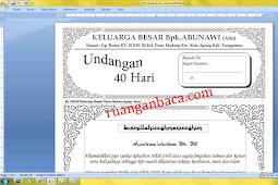 Download format undangan tahlil 40 hari microsoft word