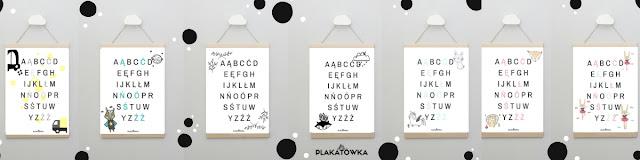 plakaty z alfabetem polskim do druku za darmo