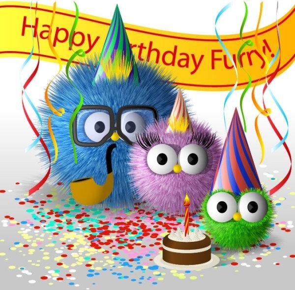 Cartoon birthday card 01 vector Free vector