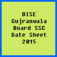 SSC Date Sheet 2017 BISE Gujranwala Board