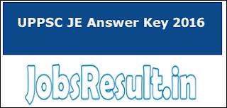 UPPSC JE Answer Key 2016