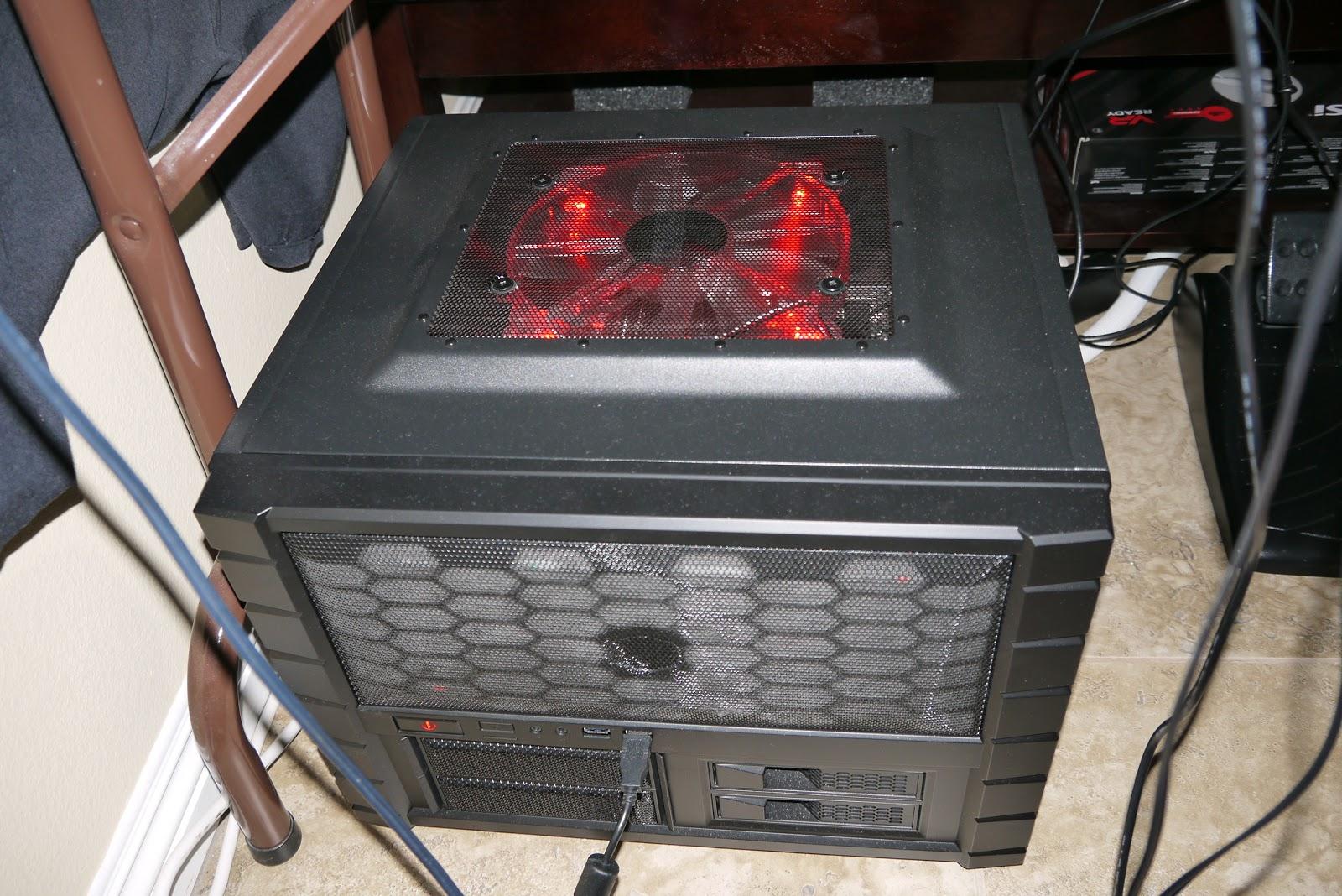 部落格標題......空白中...: 主機殼上方200mm風扇排氣影響有多大? 不嚴謹的簡易測試 Cooler Master HAF LAN Box (橫置 ...
