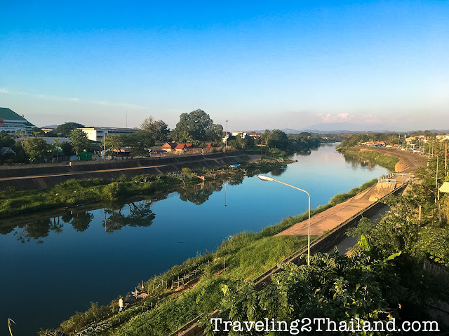 View over the Nan River in Nan, North Thailand