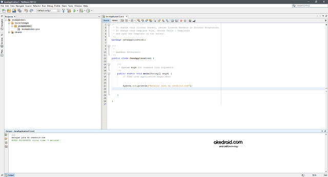 Tampilan User Interface Netbeans IDE Java