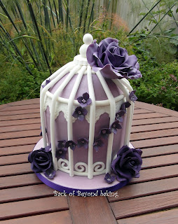 cadburys purple wedding cake
