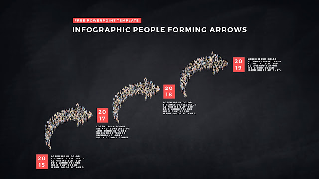Free PowerPoint Template with Infographic People Forming Arrows Slide 7