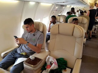 Nigerian Players Jet Out In Style To London, See List Of 25 Man Squad