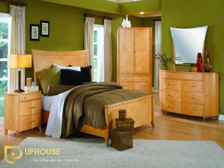 Phòng ngủ màu vàng kem 08
