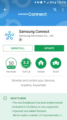 Samsung Connect app update