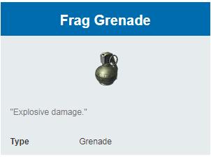 Deskripsi Grenades Frag Grenade di Rules Of Survival