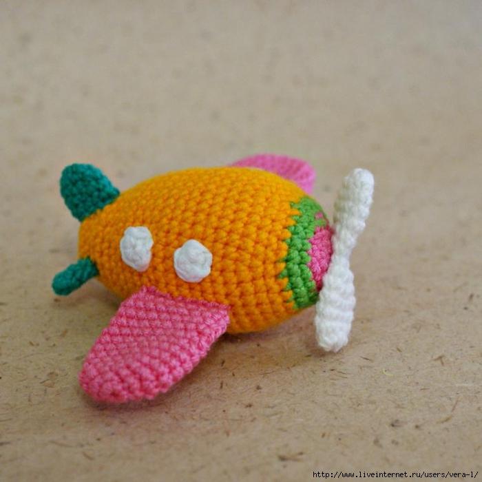 Amigurumi Sweet Airplane Free Pattern Knittting Crochet