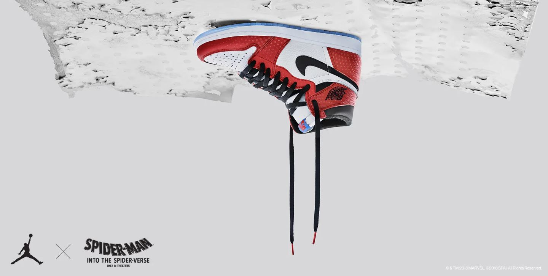 3a44b6242320 Air Jordan 1 Marvel Spiderman Spiderverse