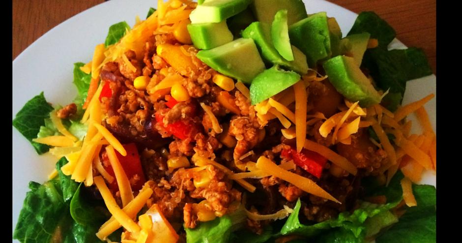 59 pounds to go: Taco Turkey Salad