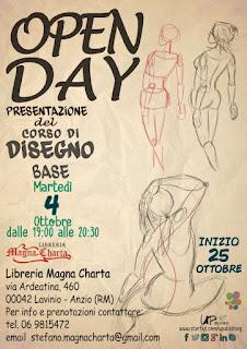 """Open Day """"Corso di disegno base"""", Libreria Magna Charta"""