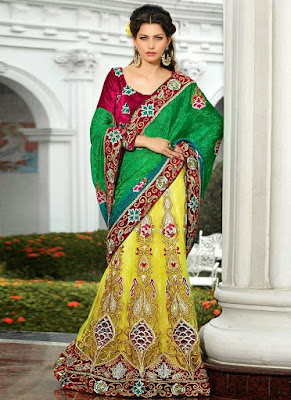 Stylish-indian-embroidered-bridal-saree-2017-for-brides-8