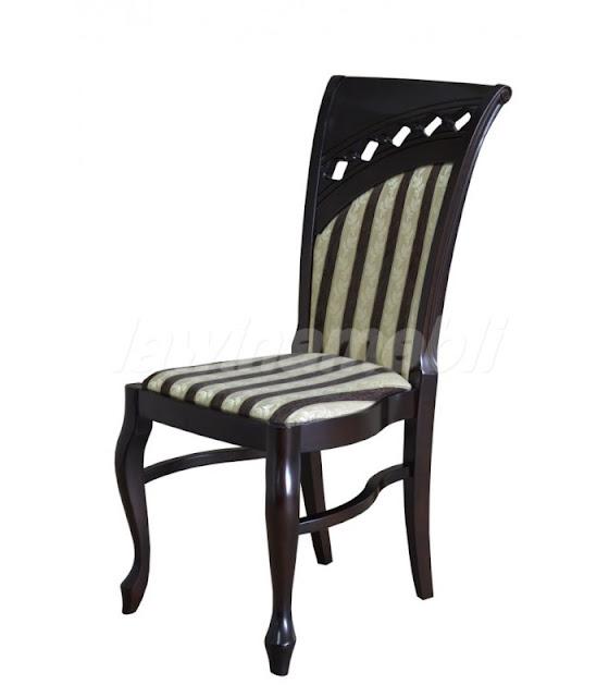 Stylowe krzesło do jadalni z litego drewna