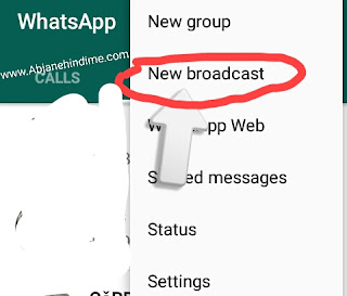What's app brodcast how to use