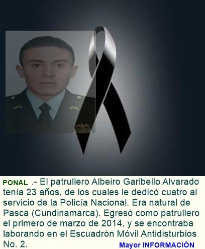 Murió el patrullero de la policía afectado por onda explosiva del atentado en Bogotá