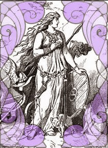 Freyja depicted in a illustration