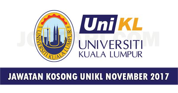Jawatan Kosong di UniKL 2017